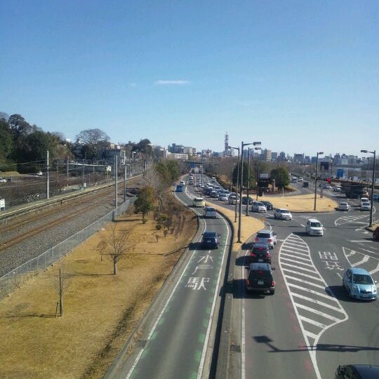 Photo taken at 偕楽橋 by T25_owner on 2/11/2012