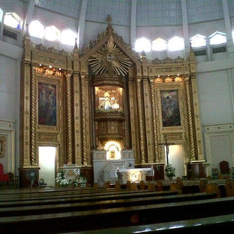 Photo taken at National Shrine of Our Lady of Peace and Good Voyage (Antipolo Cathedral) by Maricar L. on 8/9/2012