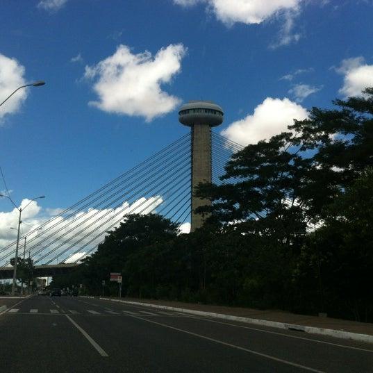 Photo taken at Ponte Estaiada by Thiago G. on 5/20/2012