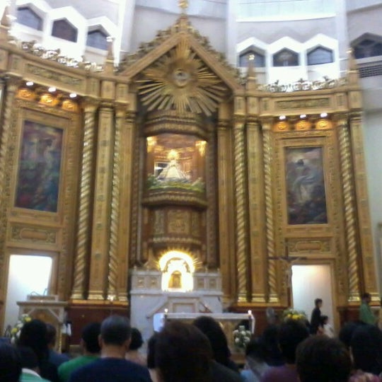 Photo taken at National Shrine of Our Lady of Peace and Good Voyage (Antipolo Cathedral) by Eric A. on 8/26/2012