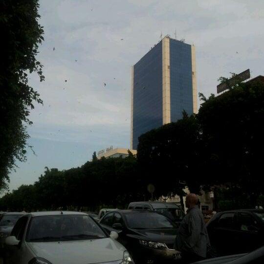 Photo taken at Avenue Habib Bourguiba by Mayssoun B. on 6/7/2012