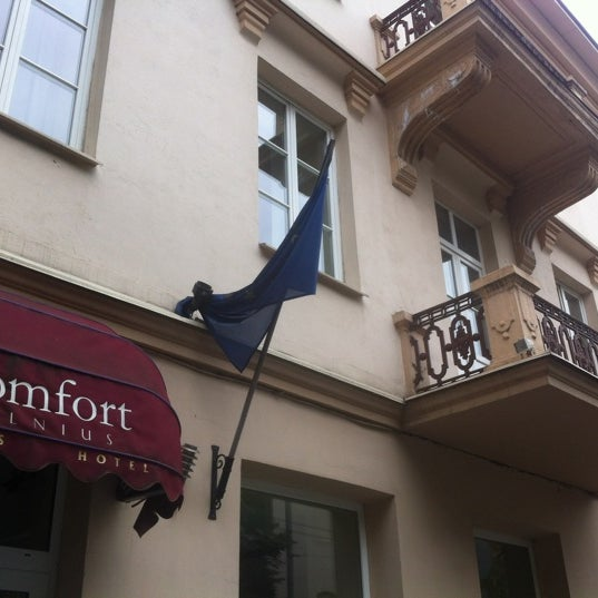 Photo taken at Comfort Hotel Vilnius by YANA K. on 8/29/2012