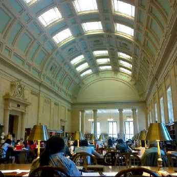Photo taken at Widener Library by Gabriel G. on 7/2/2012