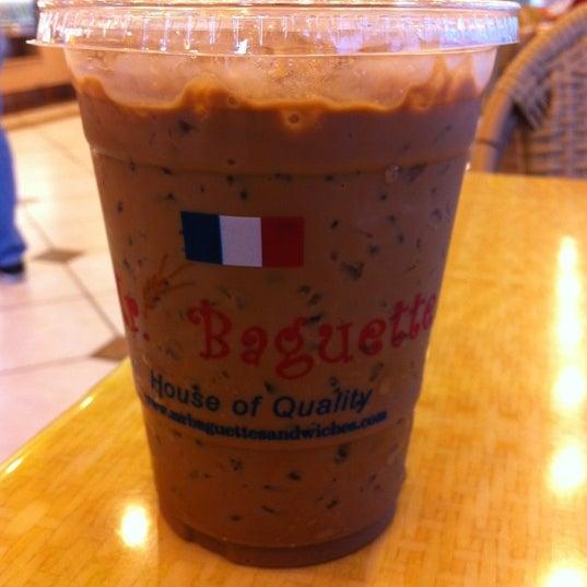 Photo taken at Mr. Baguette by Julie T. on 7/13/2012