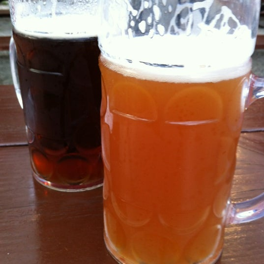 Photo taken at Zeppelin Hall Biergarten by Thomas S. on 5/13/2012