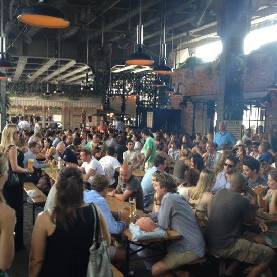Photo taken at The Biergarten at The Standard by Delos E. on 9/1/2012