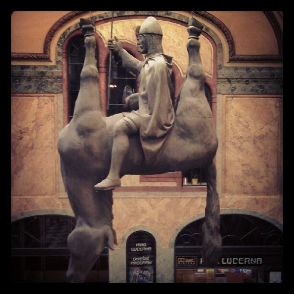 Photo taken at Palác Lucerna by l_amande on 9/8/2012
