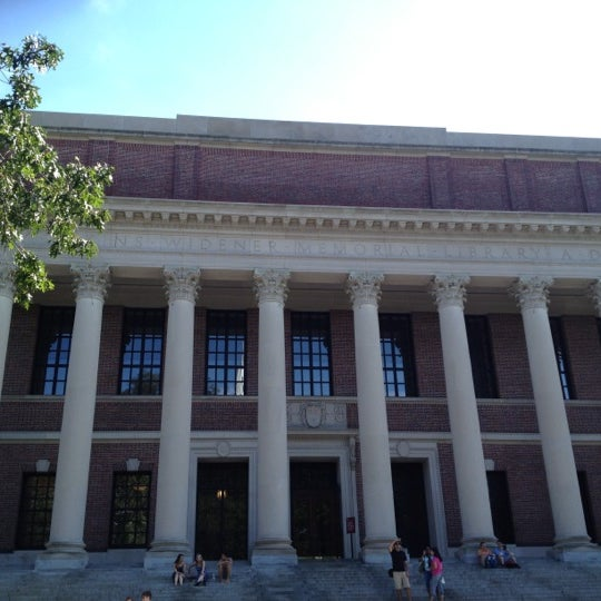 Photo taken at Widener Library by Nelson B. on 6/30/2012