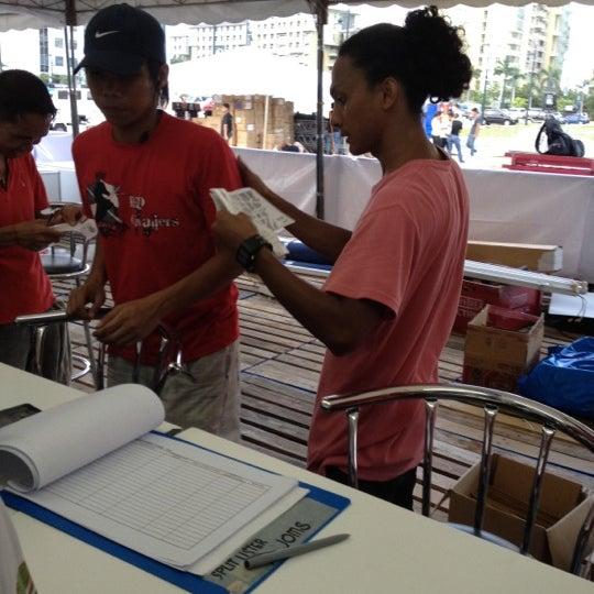 Photo taken at Bonifacio High Playground by Lilet A. on 6/12/2012