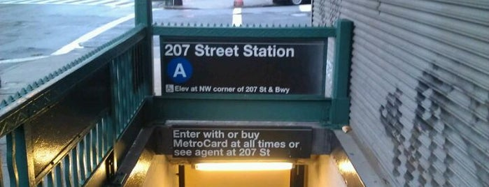 "MTA Subway - Inwood/207th St (A) is one of ""Be Robin Hood #121212 Concert"" @ New York!."