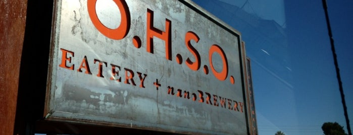O.H.S.O. Eatery + nanoBrewery is one of Beer in Phoenix.