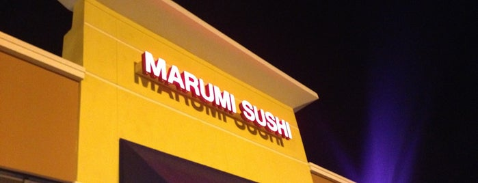 Marumi Sushi is one of Places to try.