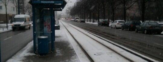H Deroystraße is one of München Tramlinie 17.