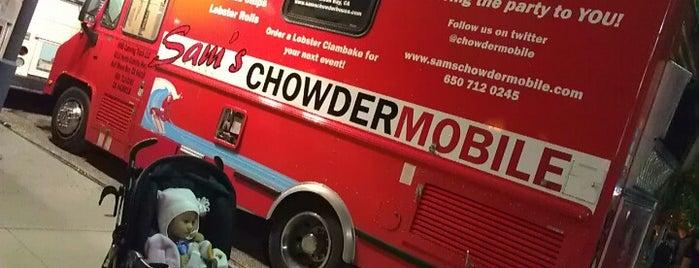 Sam's ChowderMobile is one of Food Trucks.