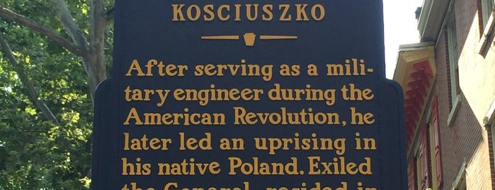 Thaddeus Kosciuszko National Memorial is one of National Parks.