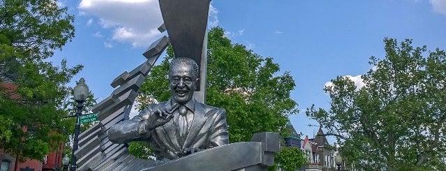 """Edward Kennedy """"Duke"""" Ellington Plaza is one of traveling."""