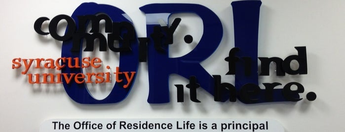 Office of Residence Life is one of NYC Syracuse UNI.