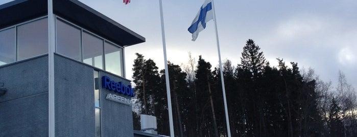 Leppävaaran jäähalli - Reebok Areena is one of Junior icehockey arenas.