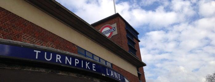 Turnpike Lane London Underground Station is one of Tube Challenge.