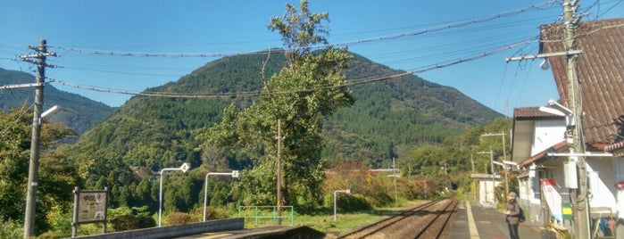 湯平駅 (Yunohira Sta.) is one of JR.