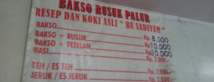 Bakso Rusuk Bu Sadiyem is one of Favorite Food.