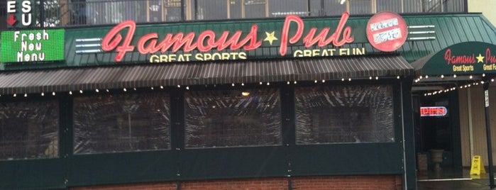 Famous Pub & Sports Palace is one of Top 10 dinner spots in Atlanta, GA.