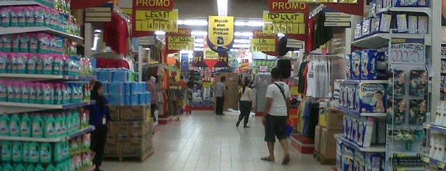 Hypermart is one of Plaza Mulia.