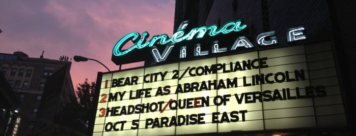 Cinema Village is one of NYC Theaters.