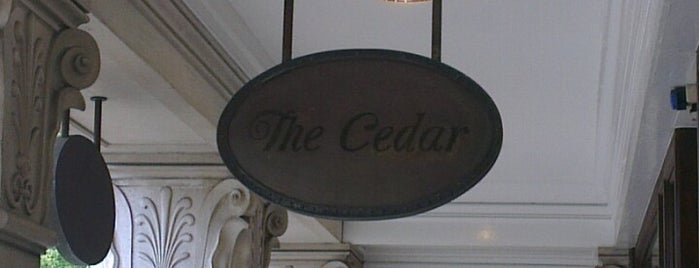 The Cedar is one of Richmond Good Food Guide.
