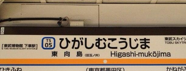 Higashi-mukojima Station (TS05) is one of 東武伊勢崎線.
