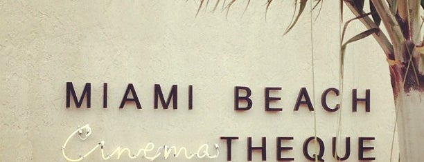 Miami Beach Cinematheque is one of Where to Get Cultured - Miami.