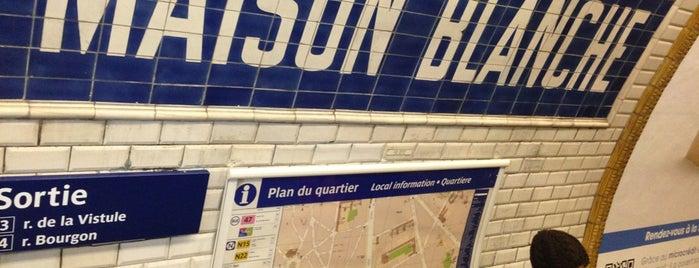 Métro Maison Blanche [7] is one of Métro de Paris.