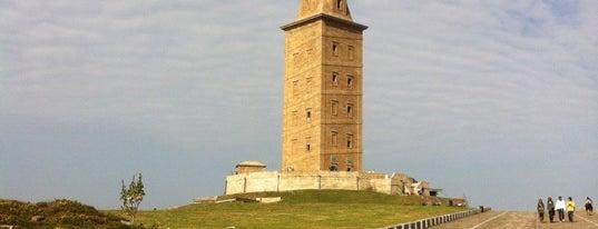 Torre de Hércules is one of Museos A Coruña.