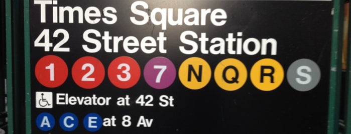 MTA Subway - 42nd St/Times Square/Port Authority Bus Terminal (A/C/E/N/Q/R/S/W/1/2/3/7) is one of MTA Subway - 2 Line.