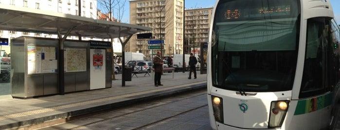 Station Porte de Vincennes [T3a,T3b] is one of Tramway T3a.