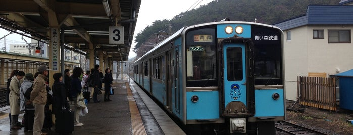 Asamushionsen Station is one of 東北の駅百選.