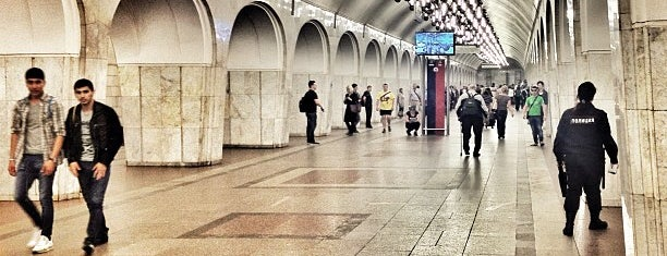 metro Mendeleyevskaya is one of Complete list of Moscow subway stations.