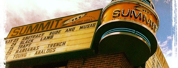 Summit Music Hall is one of Izzy's Denver Nightlife.