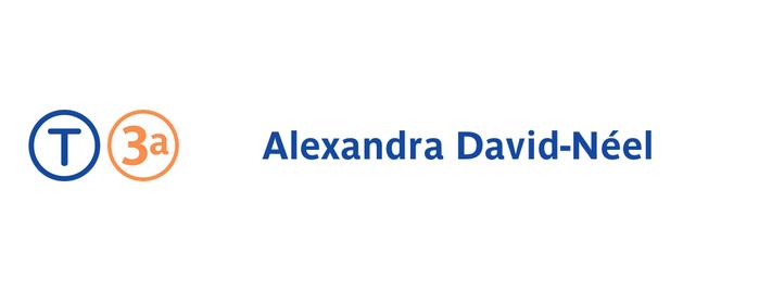 Station Alexandra David-Néel [T3a] is one of Portes de Paris.