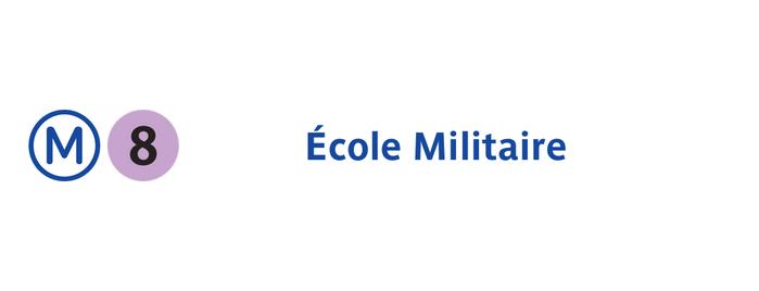 Métro École Militaire [8] is one of Métro de Paris.