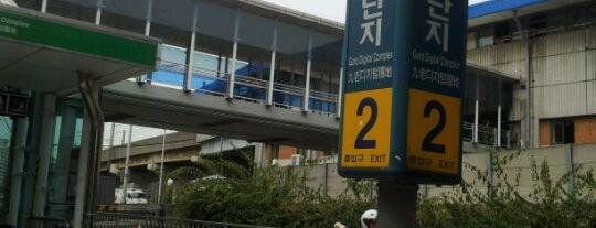 구로디지털단지역 (Guro Digital Complex Stn.) is one of Subway Stations in Seoul(line1~4 & DX).