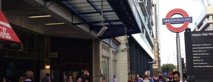 Aldgate London Underground Station is one of Zone 1 Tube Challenge.