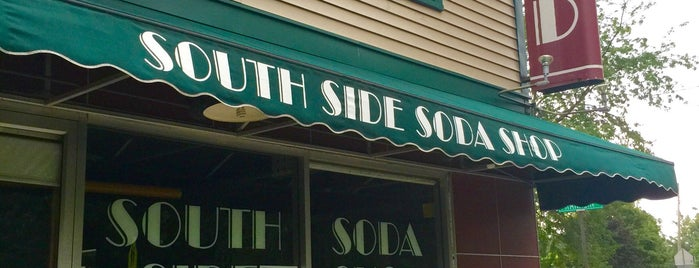 "South Side Soda Shop is one of ""Diners, Drive-Ins & Dives"" (Part 1, AL - KS)."