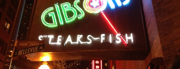 Gibsons Bar & Steakhouse is one of Happy Belly in Chicago.