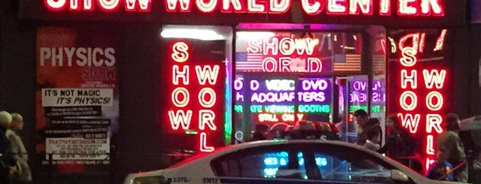 Show World Center (25¢ Adult Movies) is one of Strange Places and Oddities in NYC.