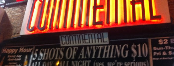 Continental is one of NYC Nights.