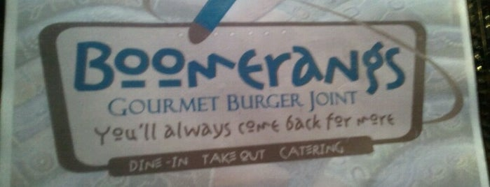 Boomerangs Gourmet Burger Joint is one of Places to Eat in San Diego.