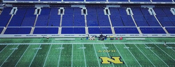 Navy-Marine Corps Memorial Stadium is one of Stadiums.