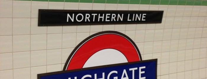 Highgate London Underground Station is one of Tube Challenge.