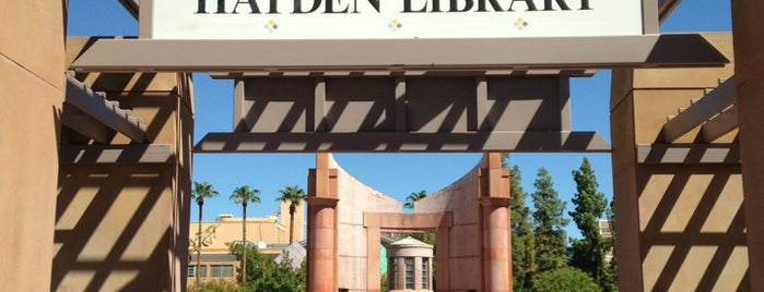 Hayden Library is one of Sun Devil Checklist.